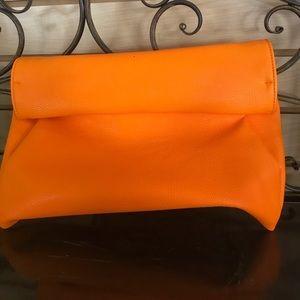 Bright orange clutch